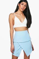 Boohoo Madison Asymetric Woven Mini Skirt