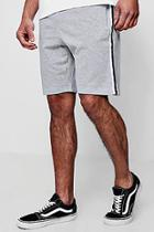 Boohoo Jersey Taped Mid Length Fleece Shorts
