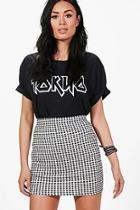 Boohoo Aurora Gingham Print Basic Mini Skirt