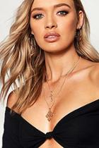 Boohoo Double Cross Layered Necklace