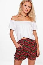 Boohoo Felicity Printed Mini Skirt