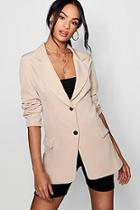 Boohoo Tailored Collared Pocket Detail Blazer