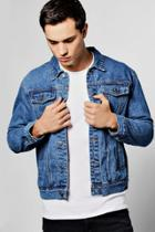 Boohoo Blue Wash Jean Jacket Blue