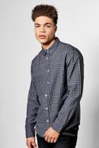 Boohoo Gingham Shirt Grey
