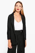 Boohoo Molly Pinstripe Tailored Blazer