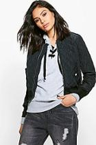 Boohoo Tia Quilted Ma1 Bomber