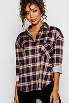 Boohoo Oversized Check Shirt