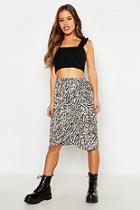Boohoo Petite Animal Print Wrap Skirt