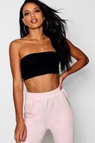 Boohoo Basic Bandeau Crop Top