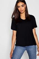 Boohoo V Neck Basic T-shirt