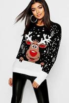 Boohoo Reindeer Christmas Sweater