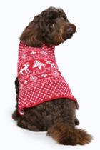Boohoo Snoopy Fairisle Christmas Dog Jumper Red