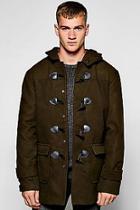Boohoo Hooded Duffle Coat