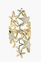 Boohoo Leah Boutique Diamante Star Statement Ring