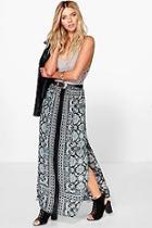 Boohoo Olivia Printed Maxi Skirt