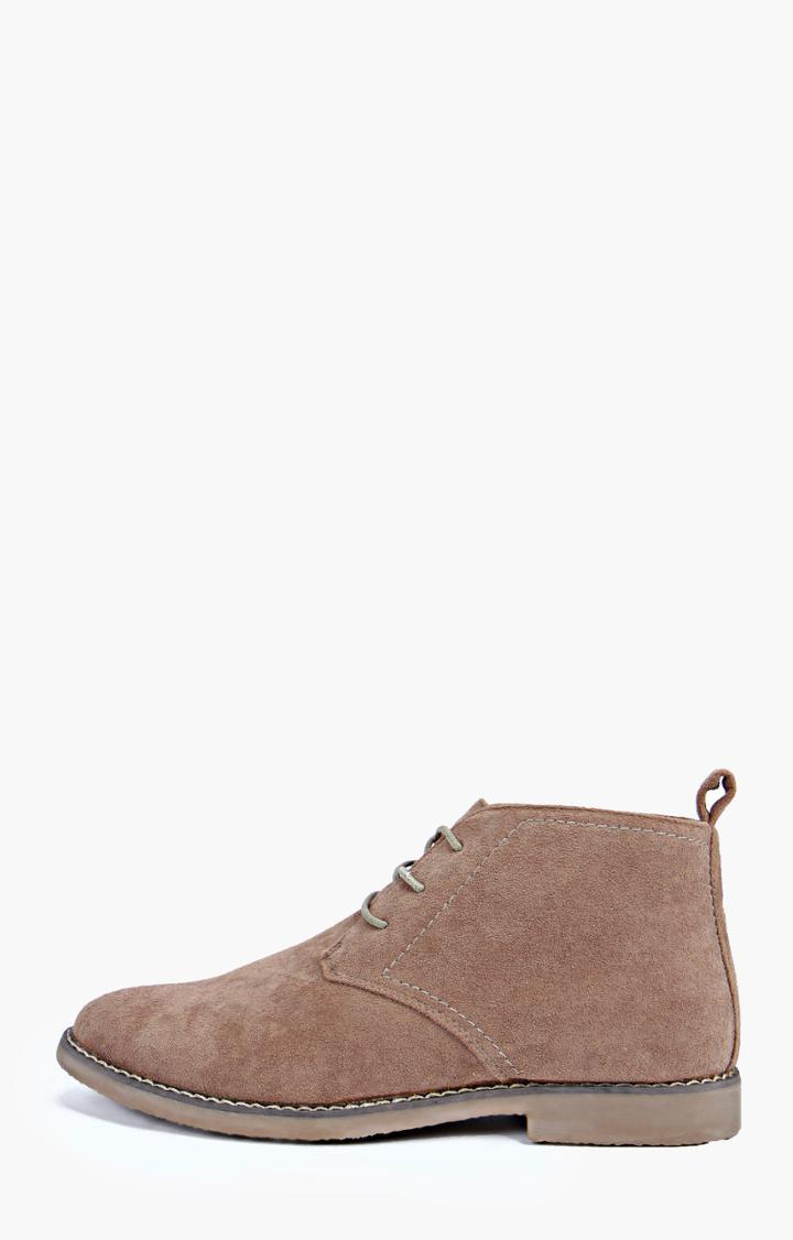 Boohoo Desert Boots Beige