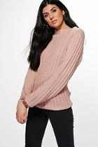 Boohoo Niamh Funnel Neck Jumper