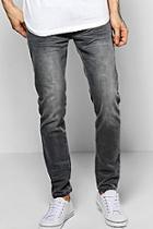 Boohoo Skinny Fit Stone Washed Grey Fashion Jeans