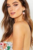 Boohoo Pineapple Bead Earrings
