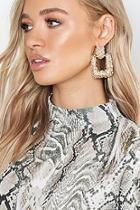 Boohoo Square Textured Oversized Earrings