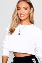 Boohoo Double Layer Bar Tag Necklace