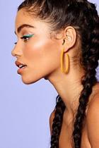 Boohoo Skinny Hoop Resin Earrings