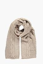 Boohoo Cable Knit Scarf