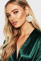 Boohoo Gold Glitter Resin Earrings