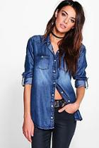 Boohoo Supersoft Denim Shirt