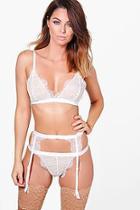 Boohoo Matilda Eyelash Lace Suspender Belt