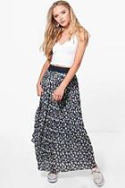 Boohoo Georgia Printed Maxi Skirt
