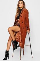 Boohoo Cord Trench Coat