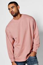Boohoo Oversized Enzyme Washed Sweater Pink