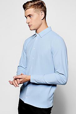 Boohoo Pique Longsleeve Shirt