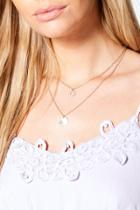 Boohoo Zoe Circle Diamante Layered Necklace Gold