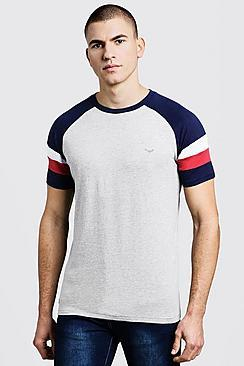 Boohoo Raglan Colour Block T-shirt