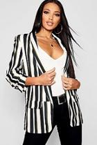 Boohoo Stripe Tailored Blazer