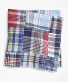 Brooks Brothers Men's Patchwork Madras Pocket Square