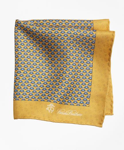 Brooks Brothers Owl And Fox Pocket Square