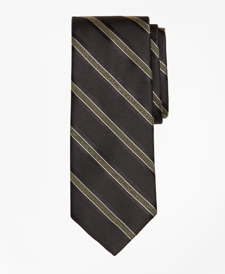 Brooks Brothers Men's Alternating Textured Stripe Tie