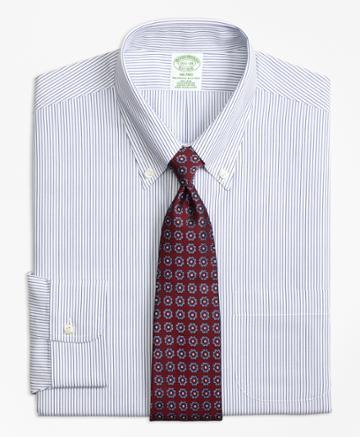 Brooks Brothers Extra Slim Fit Slim-fit Dress Shirt, Non-iron Pinstripe