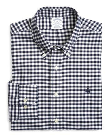 Brooks Brothers Supima Cotton Non-iron Slim Fit Brookscool Gingham Oxford Sport Shirt