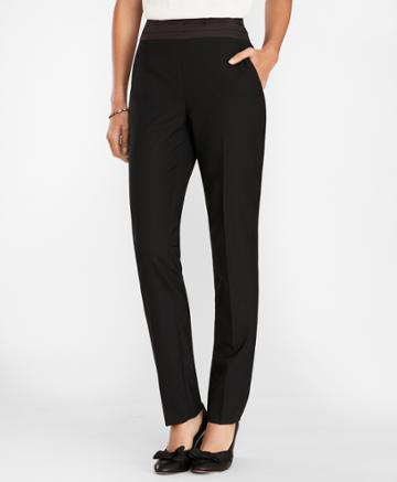 Brooks Brothers Women's Wool-blend Tuxedo Pants