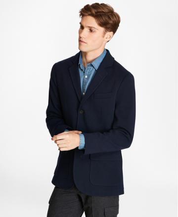 Brooks Brothers Men's Merino Wool Three-button Sweater Blazer