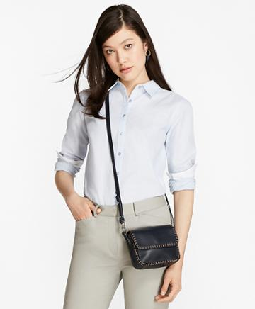 Brooks Brothers Honeycomb-weave Cotton Fitted Shirt