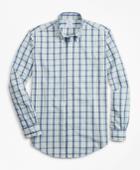 Brooks Brothers Men's Regent Fit Plaid Seersucker Sport Shirt