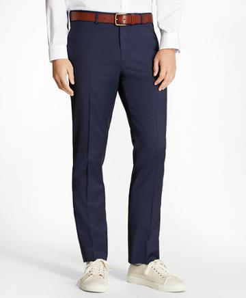 Brooks Brothers Alternating Pinstripe Wool Suit Trousers