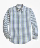 Brooks Brothers Regent Fit Yellow Check Seersucker Sport Shirt