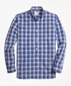 Brooks Brothers Men's Plaid Broadcloth Sport Shirt