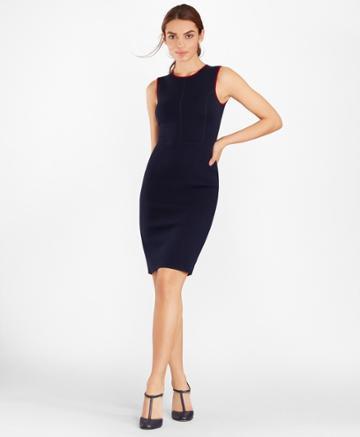 Brooks Brothers Women's Knit Merino Wool Sheath Dress